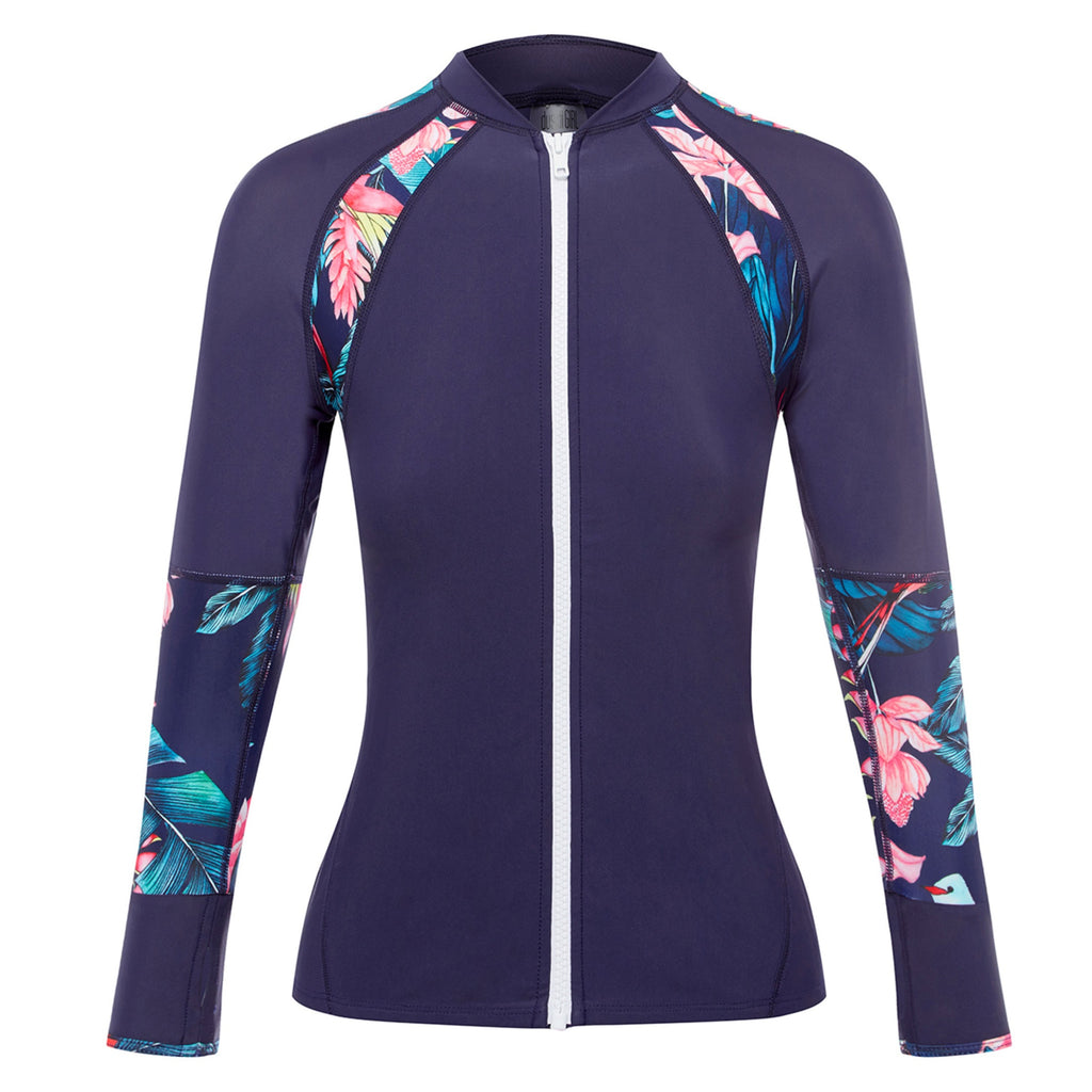 DUSKII GIRL Adela Rashguard in Tropical Navy