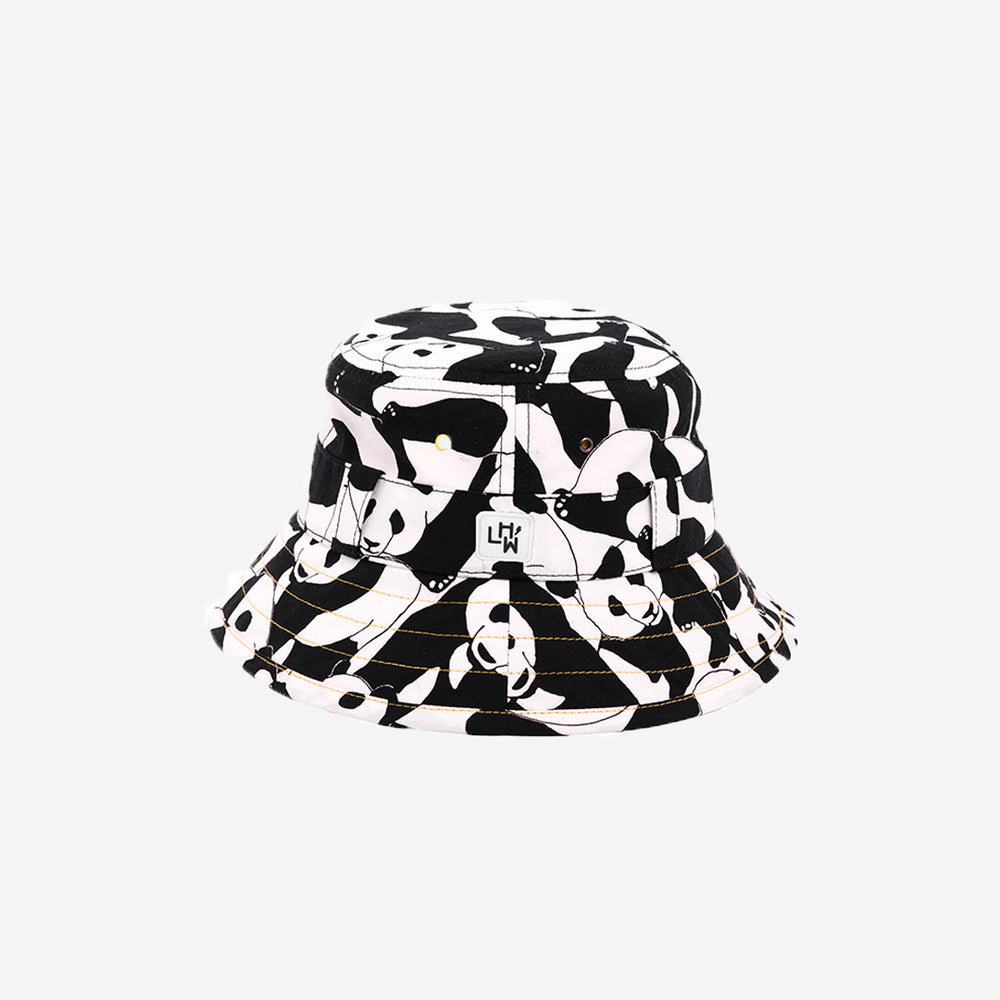 LITTLE HOTDOG WATSON Adventurer Bucket Hat Panda Pop