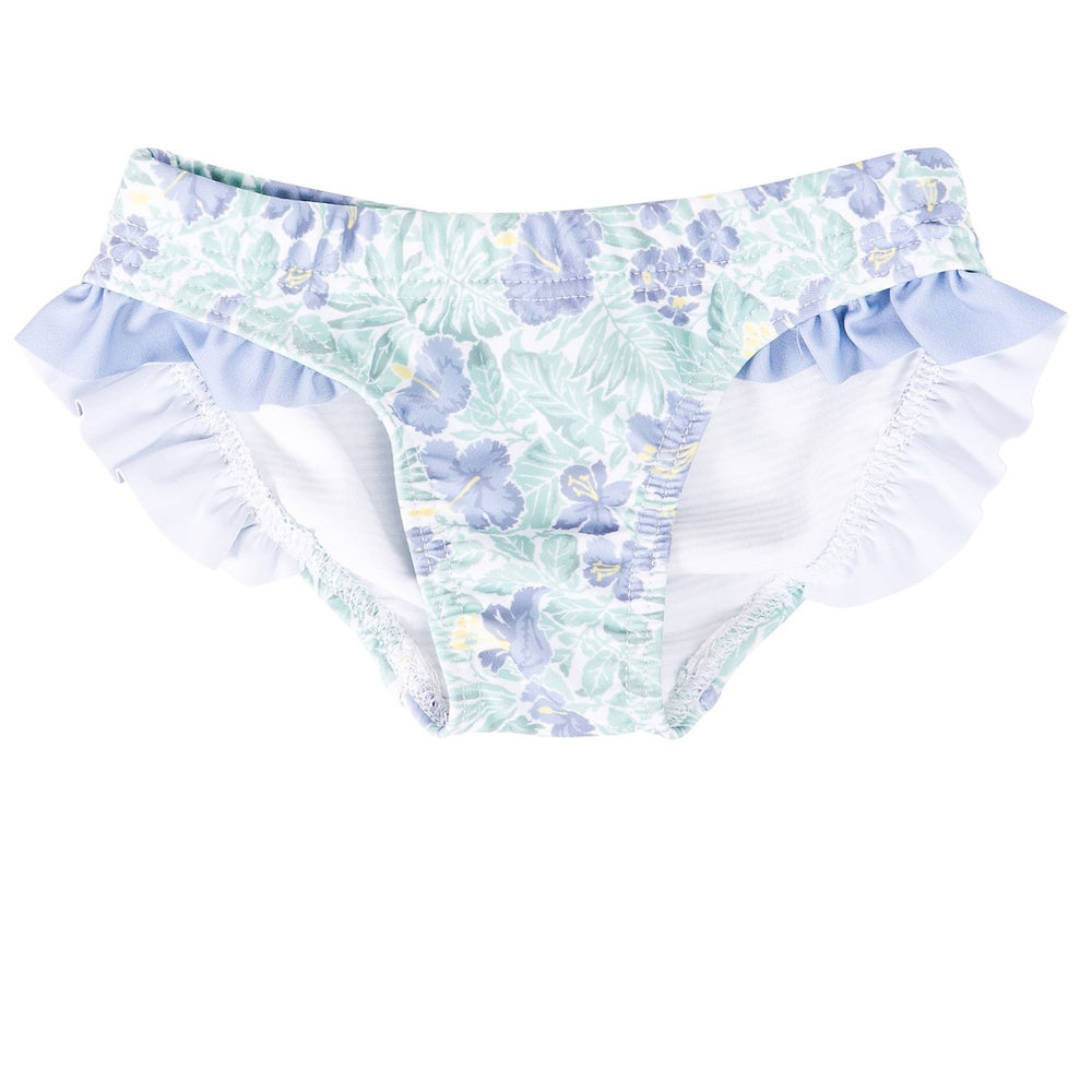 HARRY & POP Frill Bikini Bottoms in Freshwater Floral