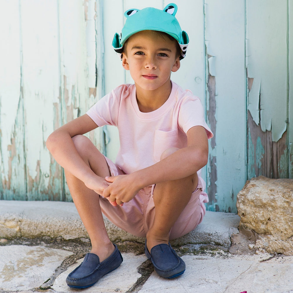The Cub Cotton Hat Turquoise