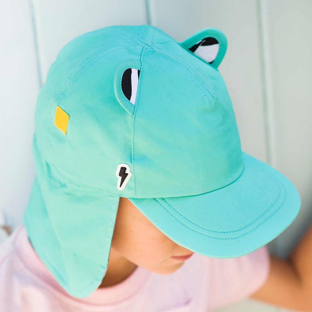 LITTLE HOTDOG WATSON The Cub Cotton Hat Turquoise