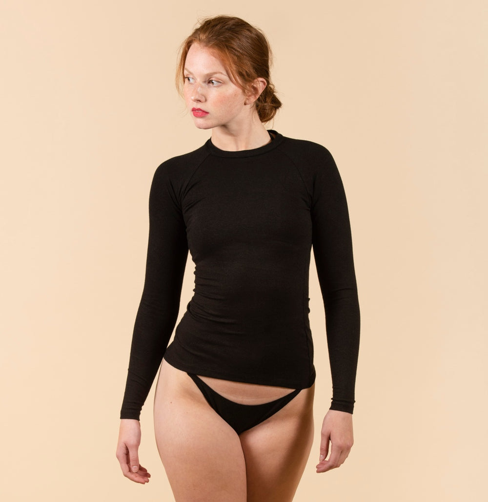 NATASHA TONIC High Neck Rashguard in Black