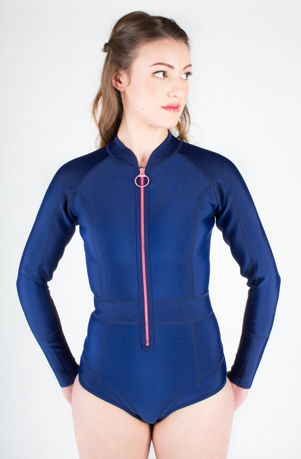 DUSKII Gisele Long-Sleeved Springsuit in Blueberry