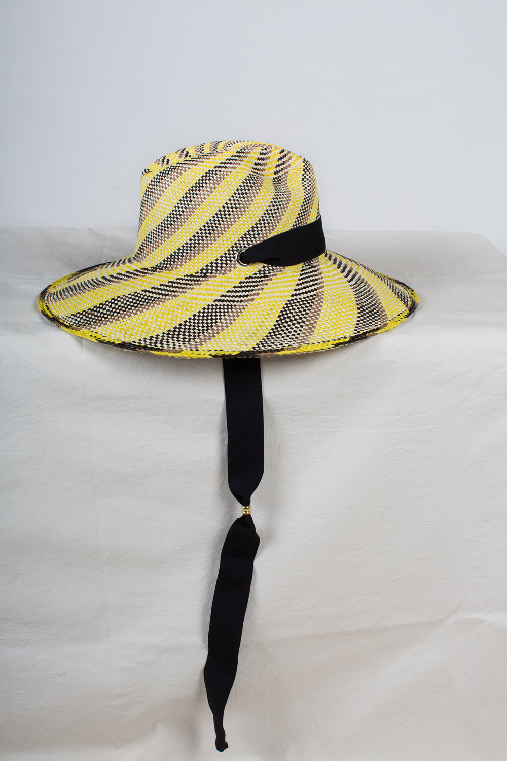 Swirl Panama Hat With Adjustable Ribbon