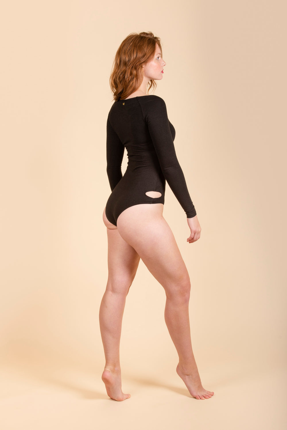 NATASHA TONIC Goddess Longsleeved Suit in Black
