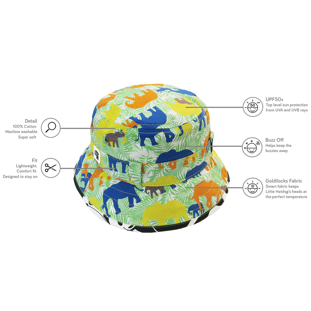 LITTLE HOTDOG WATSON Adventurer Bucket Hat Ele-Folk