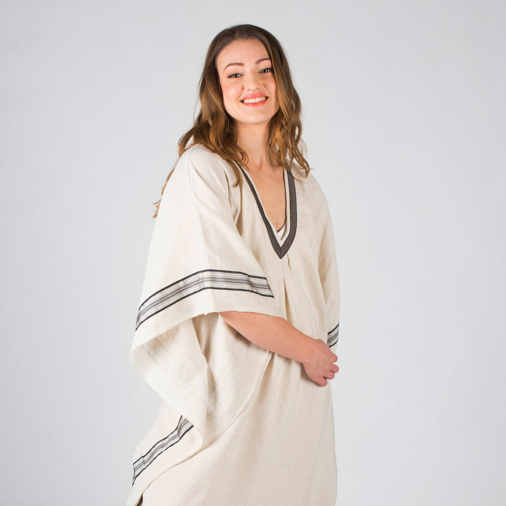 YUME Erato Linen Kaftan in Natural
