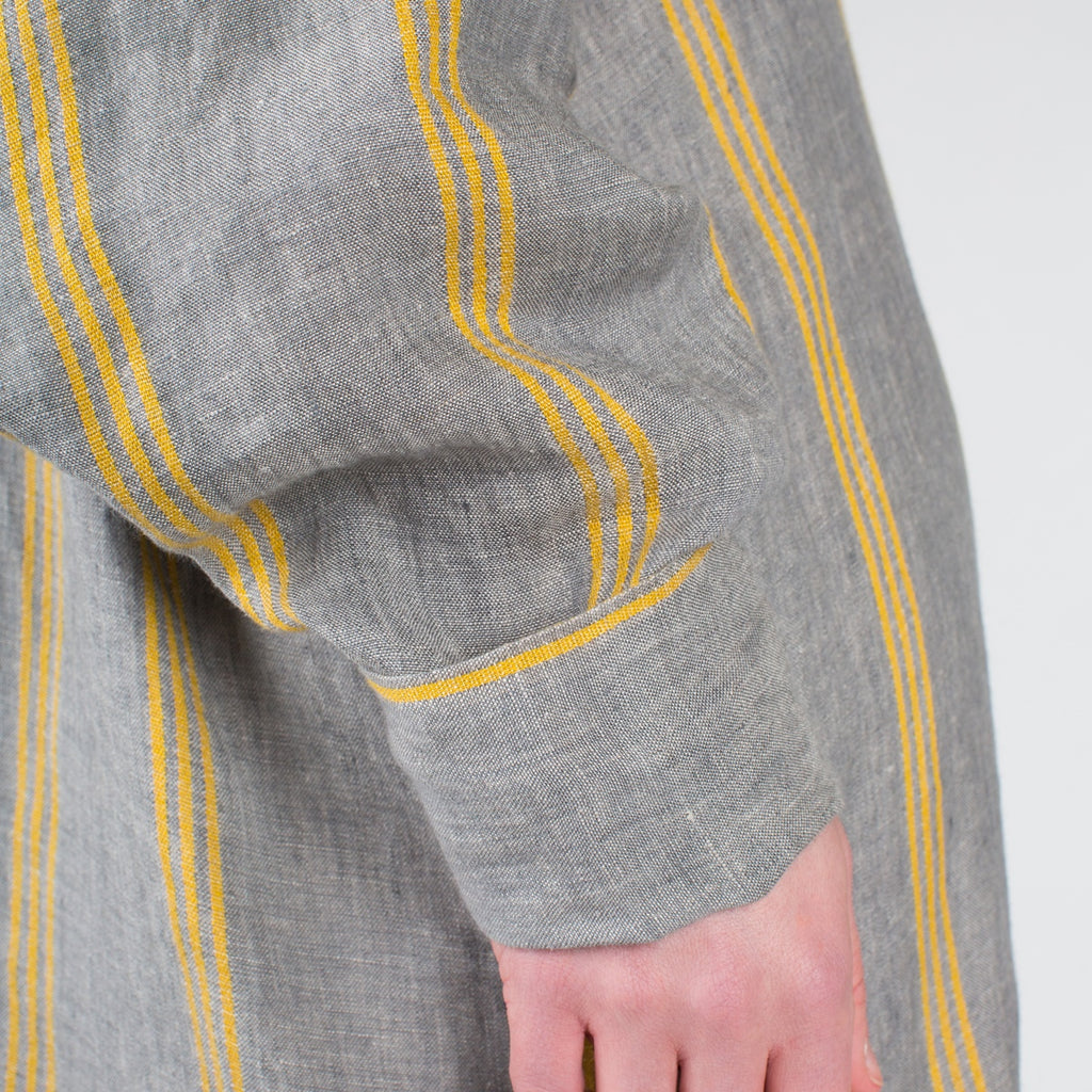 YUME Anais Kaftan in Grey Stripe