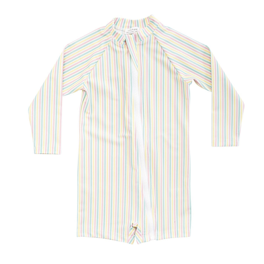 HARRY & POP Baby Sunsuit in Portsea Pink Stripe