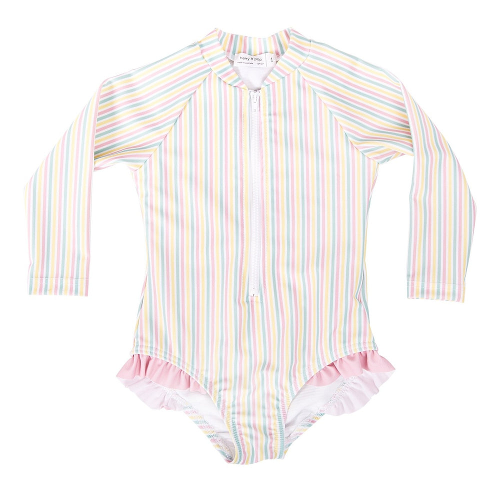 HARRY & POP Surfsuit in Portsea Pink Stripe