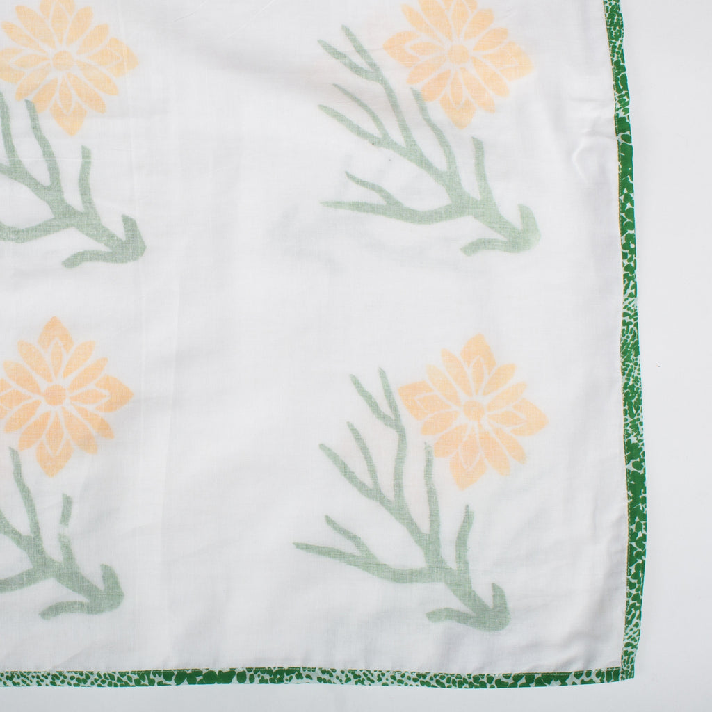 LAHAR SRIJANA Tripe Layer Muslin Khasto in Yellow Rose