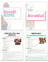 Recipe Binder with 41 Gluten Free and Dairy Free Recipes