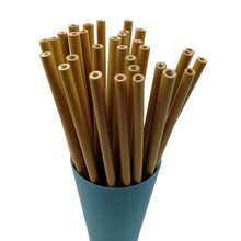 Load image into Gallery viewer, 10pcs Bamboo Reusable Drinking Straws