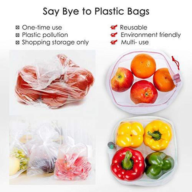 15pcs Reusable Produce Bags