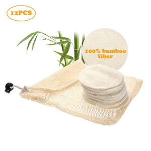 12Pcs Reusable Bamboo Cotton Pads