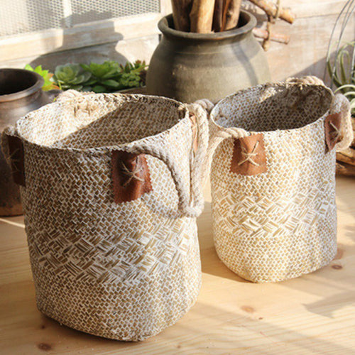 Foldable Seagrass Laundry Basket