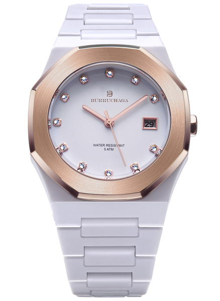 Overlook Crystal Rose Gold & White