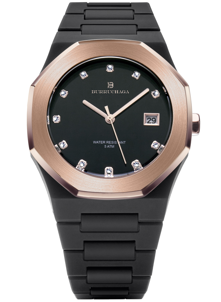 Overlook Crystal Rose Gold & Black