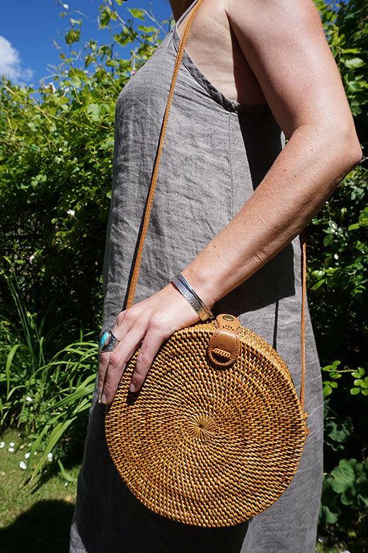 Bali Round Bag | Natural