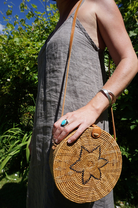 Bali Round Bag | Natural Star