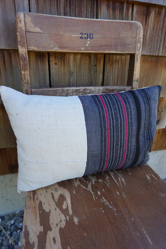 Lyric - Hmong Textile + African Cotton Pillow