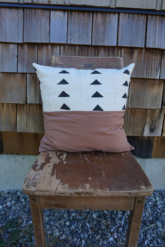Hope - African Mudcloth + Linen Pillow