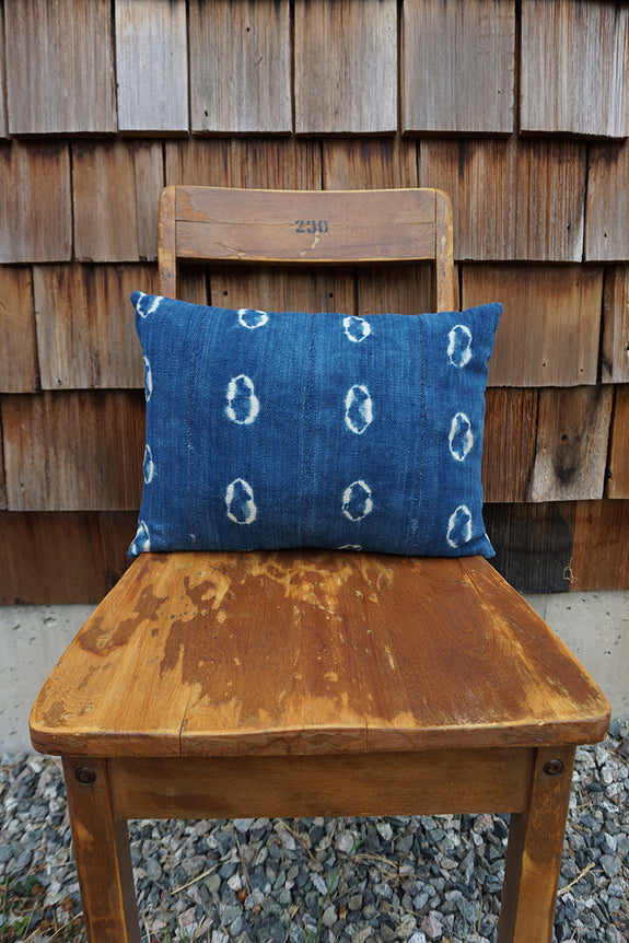 Quincy - Vintage African Indigo Pillow