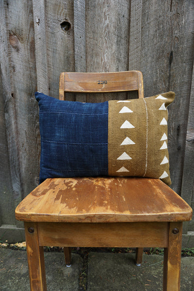 Constance - African Mudcloth and Indigo Pillow