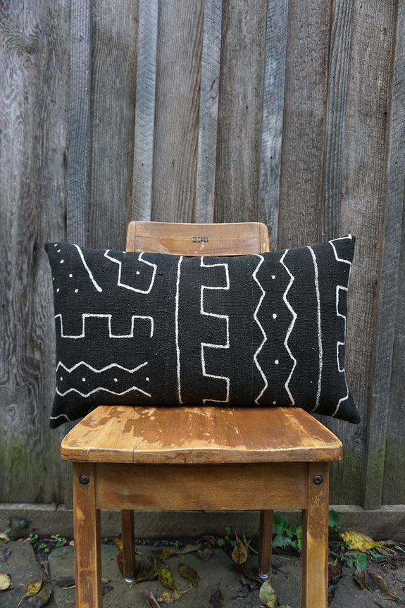 Raven - African Mudcloth Pillow