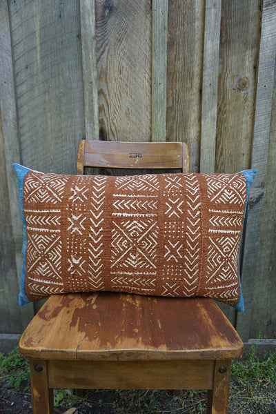 Asha - African Mudcloth with Vintage Indigo Pillow