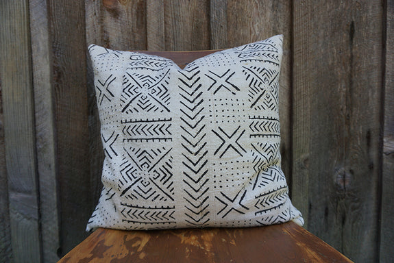 Charlie - African Mudcloth Pillow