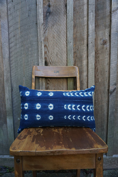 Lottie - Vintage African Indigo Pillow