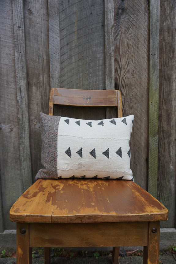 Molly - African Mudcloth with Canadian Wool Pillow