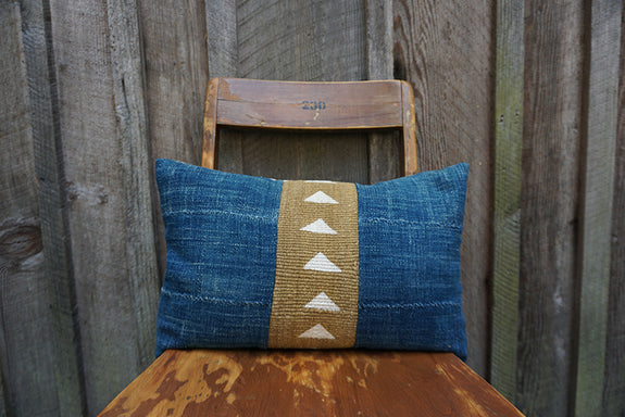 Adeline - African Indigo and Mudcloth Pillow