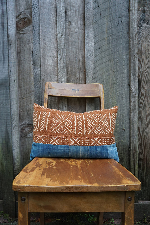 Brenna - African Indigo and Mudcloth Pillow