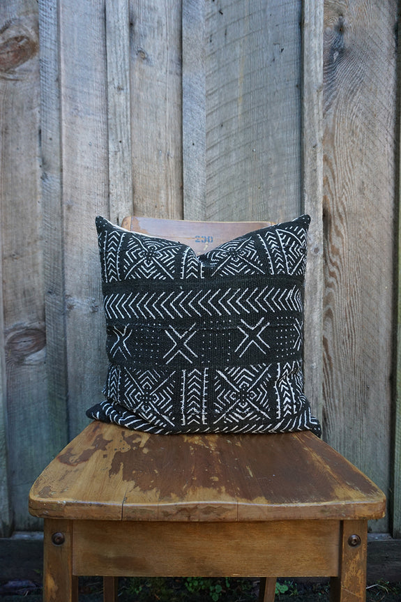 Ireland - African Mudcloth Pillow