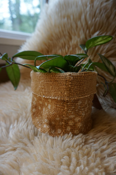 Mustard Mudcloth Plant Holder