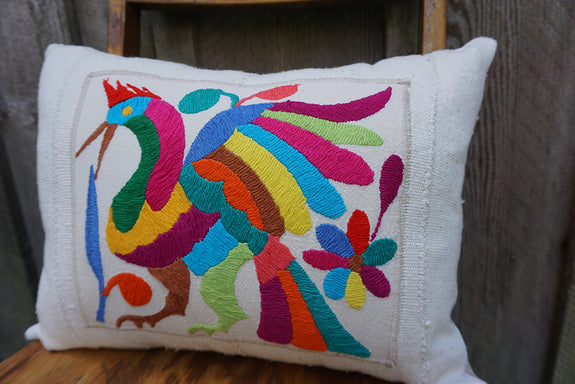 Matilda - Mexican Otomi Embroidered Pillow