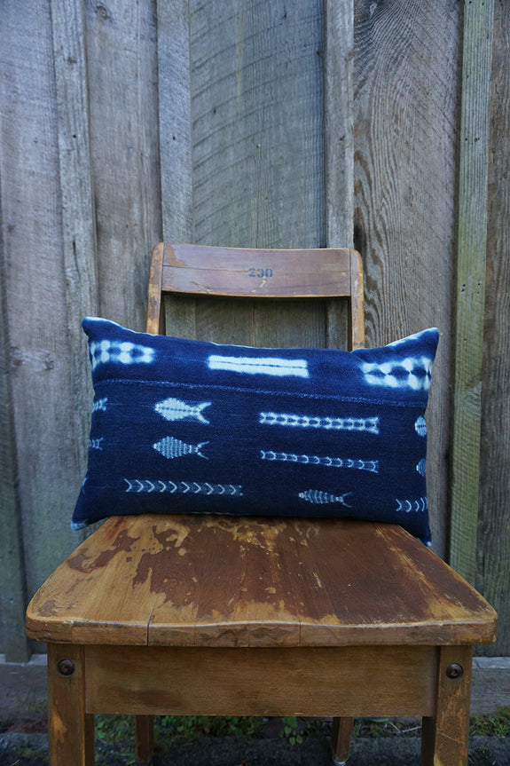 Bliss - Vintage African Indigo Pillow