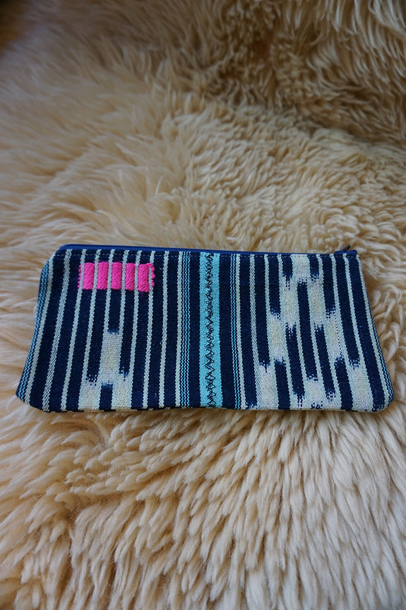 Zippered Pouch made from Vintage Baule Textile - #235