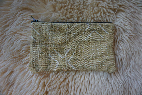 Zippered Pouch made from African Mudcloth - #237