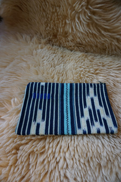 Zippered Pouch made from Vintage Baule Textile - #240
