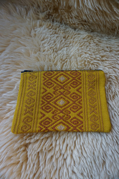 Zippered Pouch made from Mexican Textile - #242