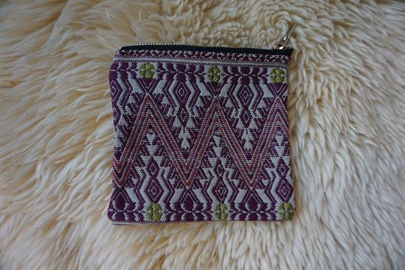 Zippered Pouch made from Mexican Textile - #196