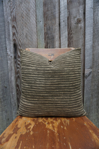 Frankie - Vintage African Mudcloth Pillow