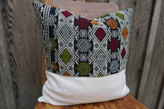 Everly - Vintage Laotian Silk Textile Pillow