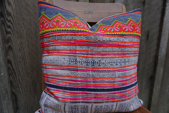 Maple - Vintage Hmong Textile Pillow