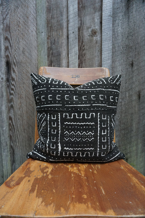 Navy - African Mudcloth Pillow