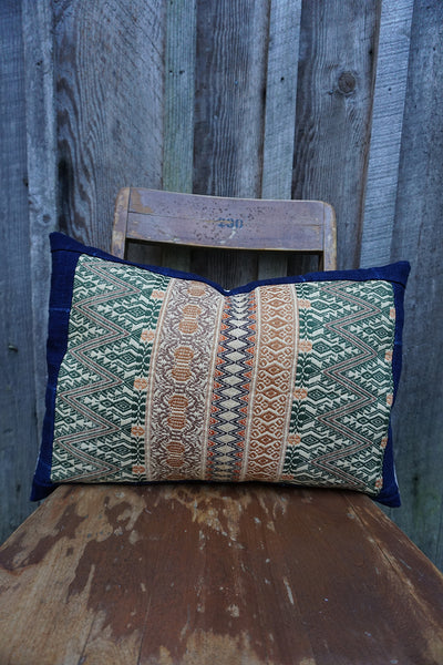 Rayna - Oaxacan and Vintage African Indigo Pillow