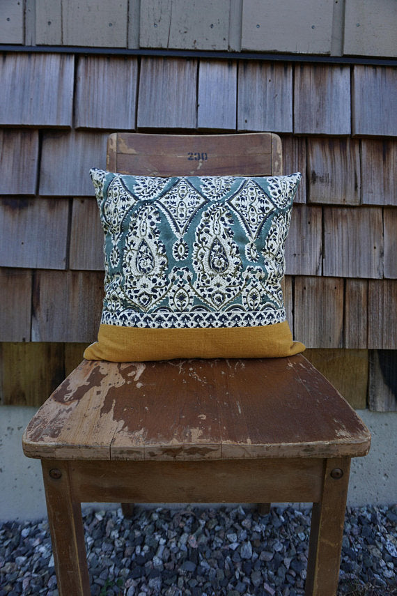 Maribelle - Indian Blockprint Pillow